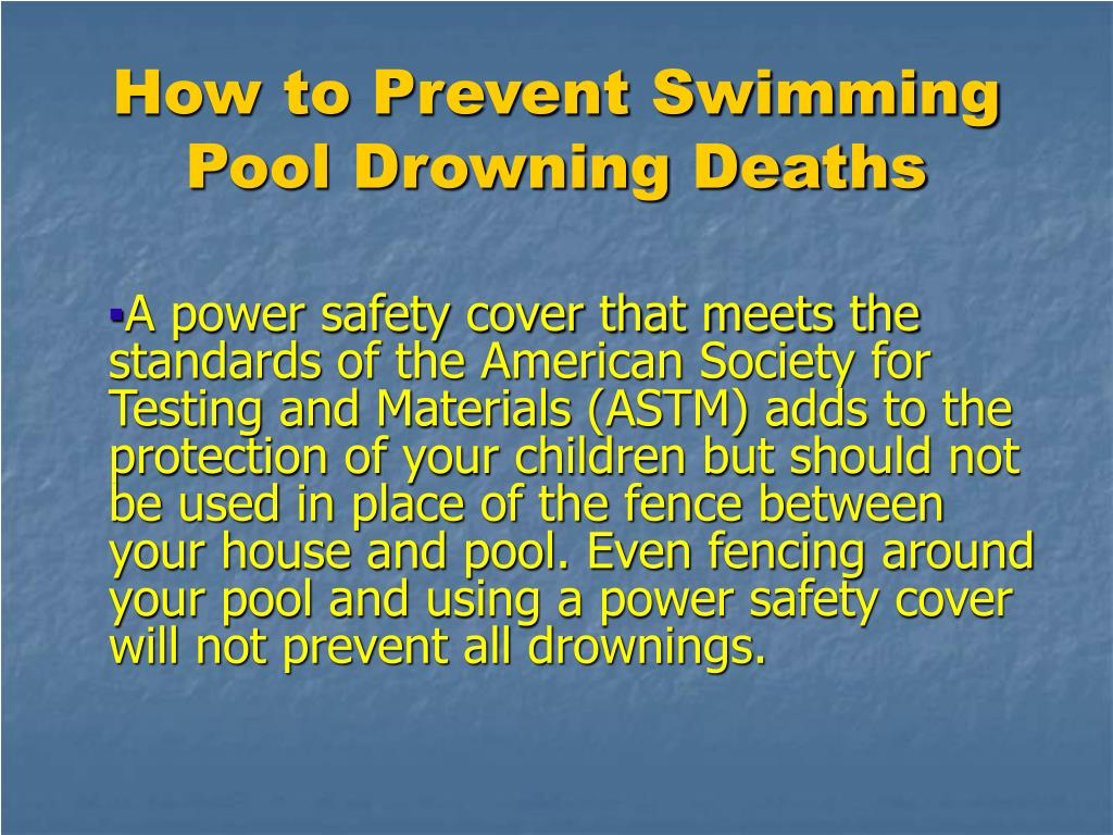 How to Prevent Swimming Pool Drowning Deaths