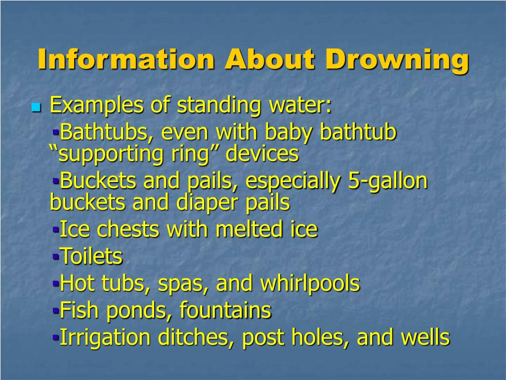 Information About Drowning