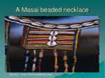 a masai beaded necklace