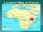 location map of kenya