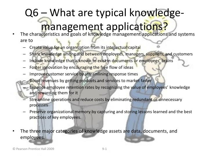 q6 what are typical knowledge management applications n.
