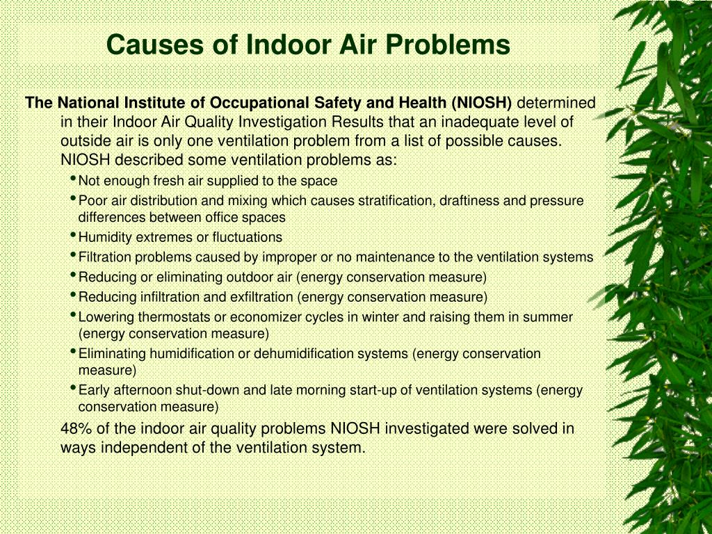 Causes of Indoor Air Problems