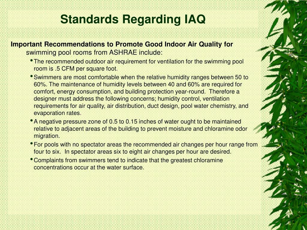 Standards Regarding IAQ