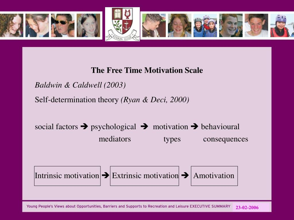 The Free Time Motivation Scale