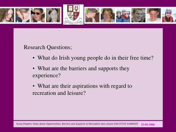 Research Questions;