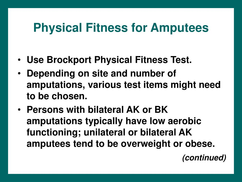 Physical Fitness for Amputees
