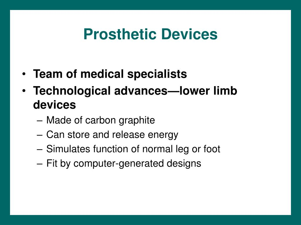 Prosthetic Devices