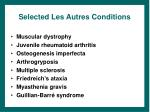 selected les autres conditions