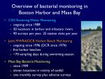 overview of bacterial monitoring in boston harbor and mass bay