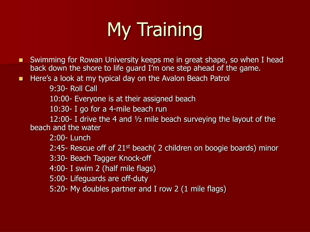 My Training