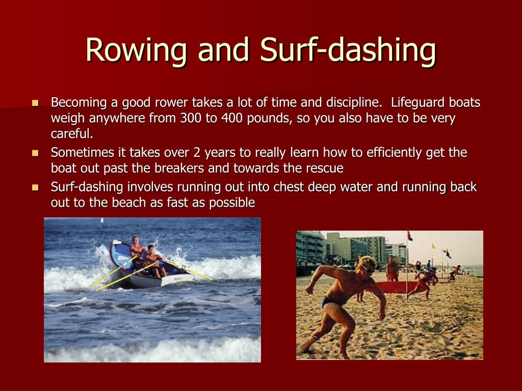 Rowing and Surf-dashing
