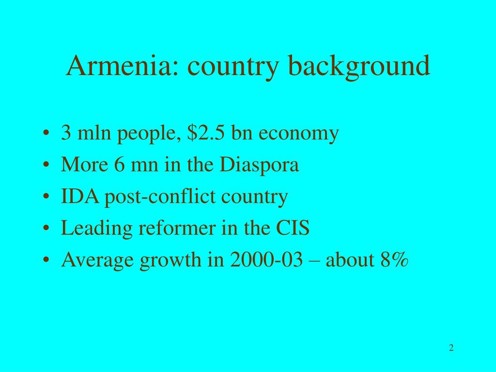 Armenia: country background