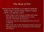 the role of oil