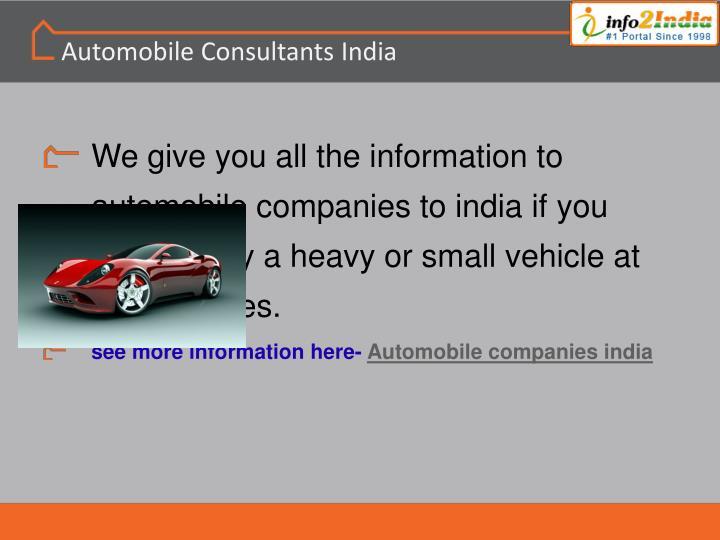 Automobile Consultants India