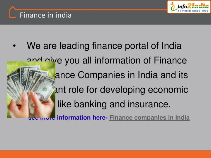Finance in india