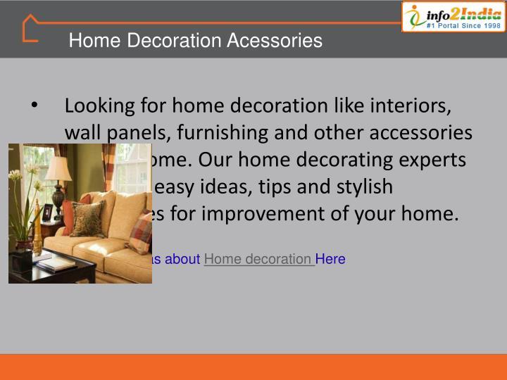 Home Decoration Acessories