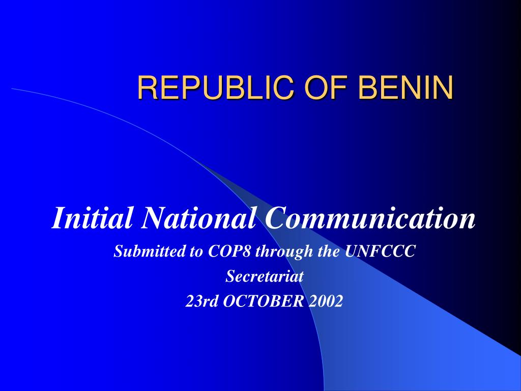 republic of benin l.