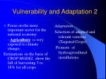 vulnerability and adaptation 2