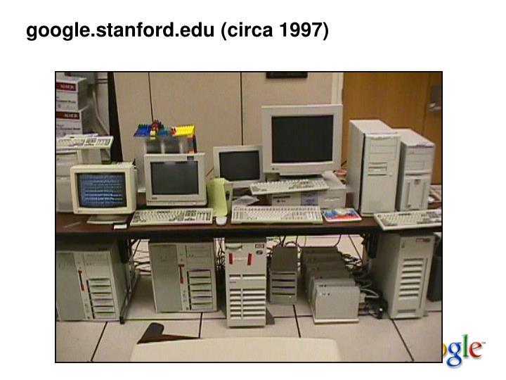 google.stanford.edu (circa 1997)
