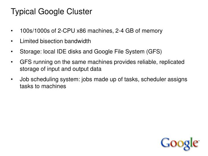 Typical Google Cluster