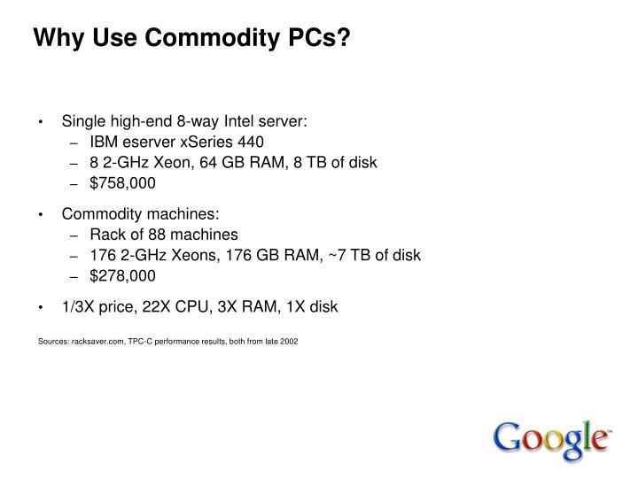 Why Use Commodity PCs?