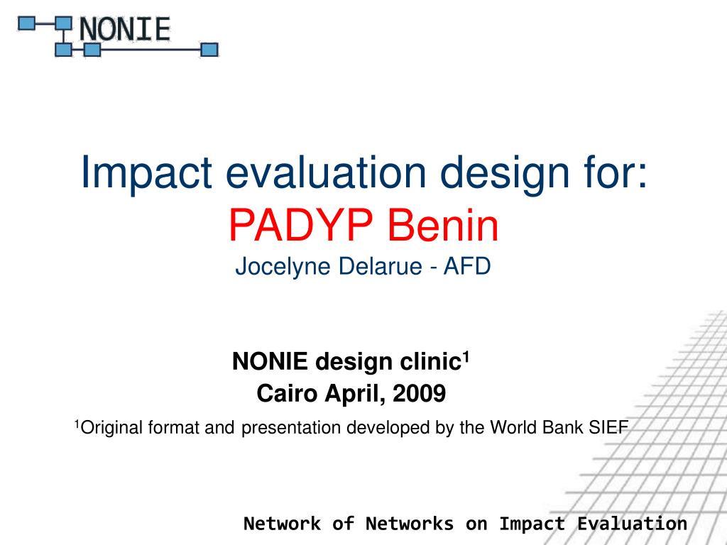 impact evaluation design for padyp benin jocelyne delarue afd l.