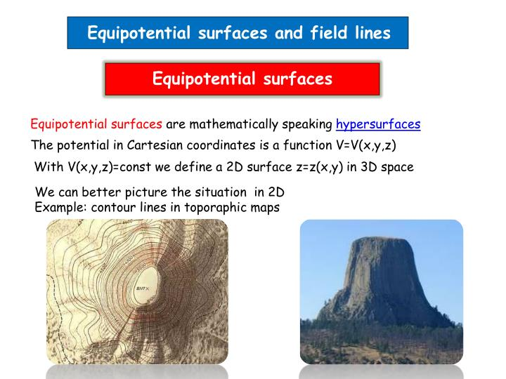 Equipotential surfaces and field lines