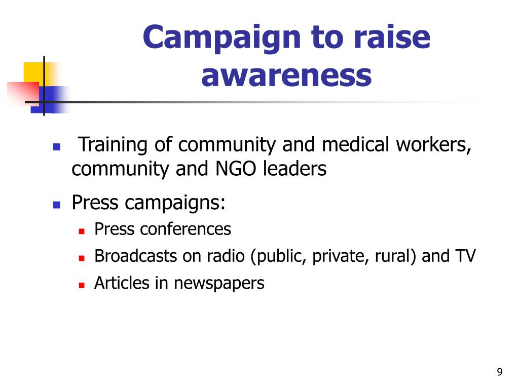 Campaign to raise awareness