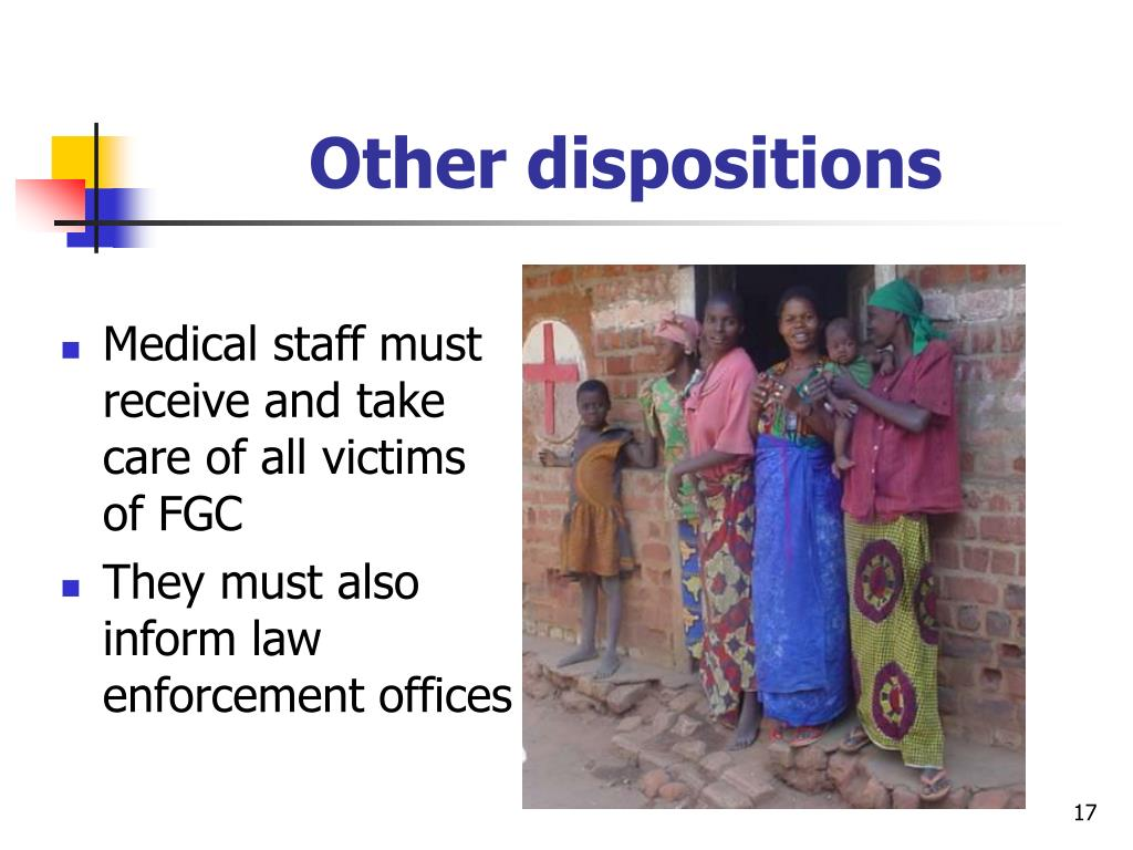 Other dispositions