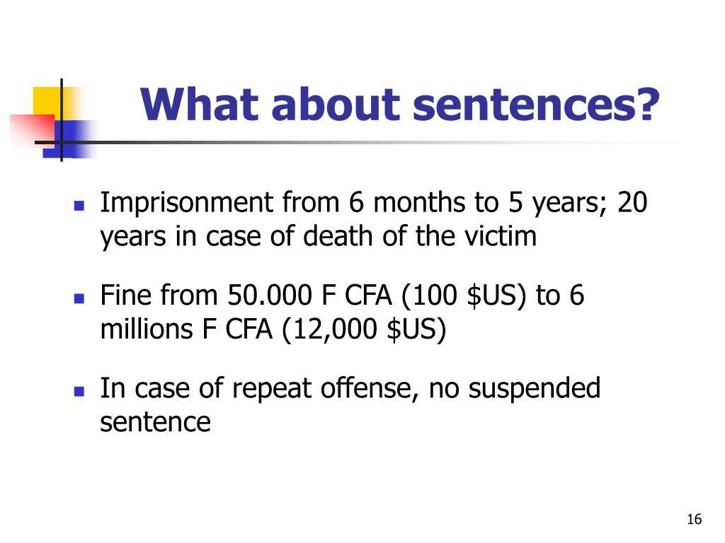 What about sentences?