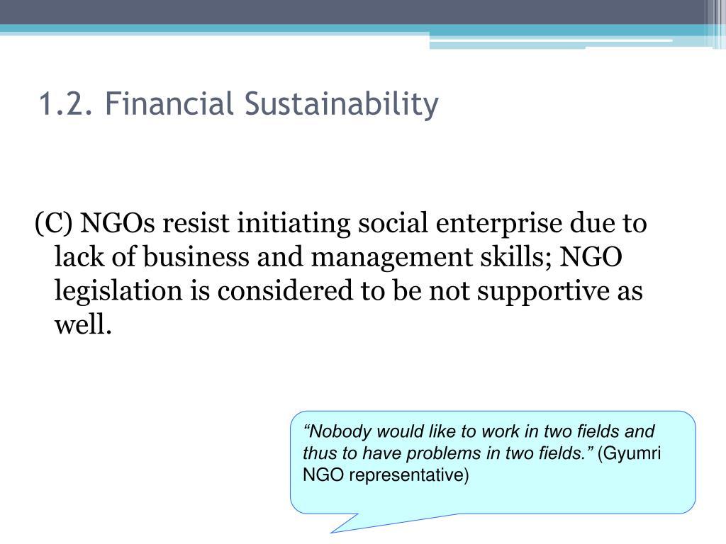 1.2. Financial Sustainability