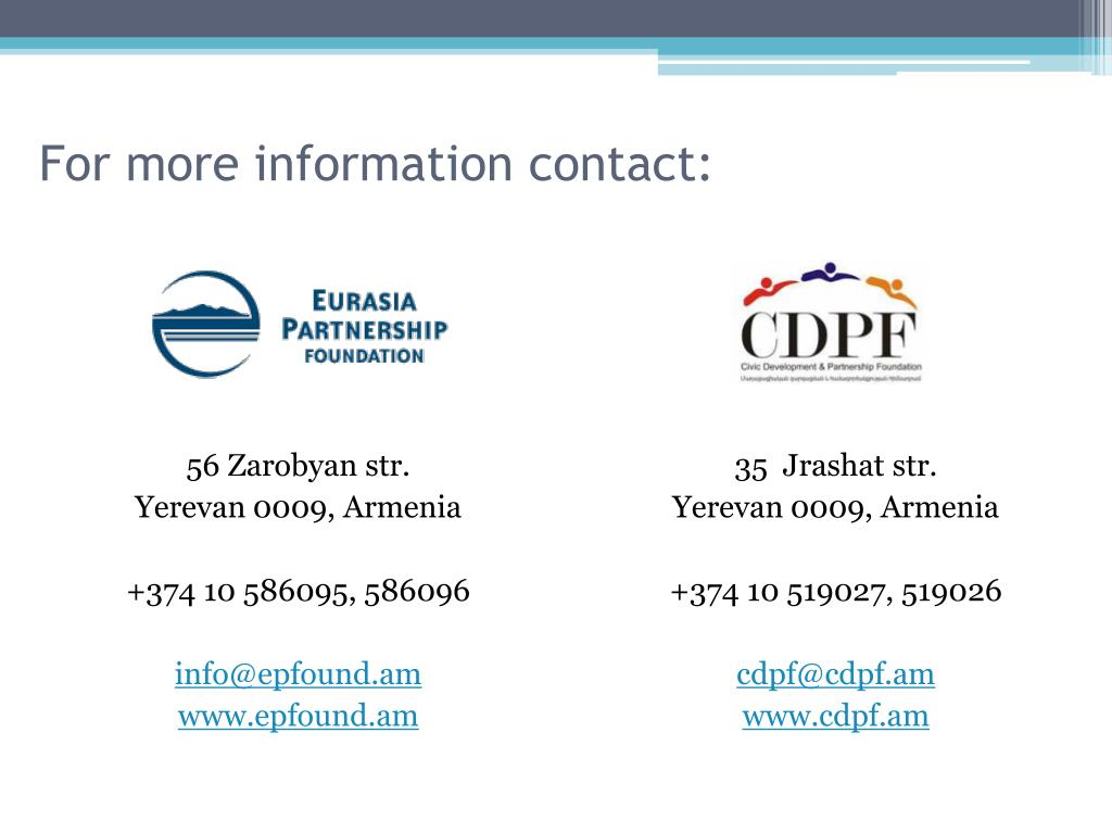 For more information contact: