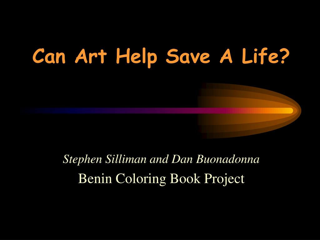 can art help save a life l.
