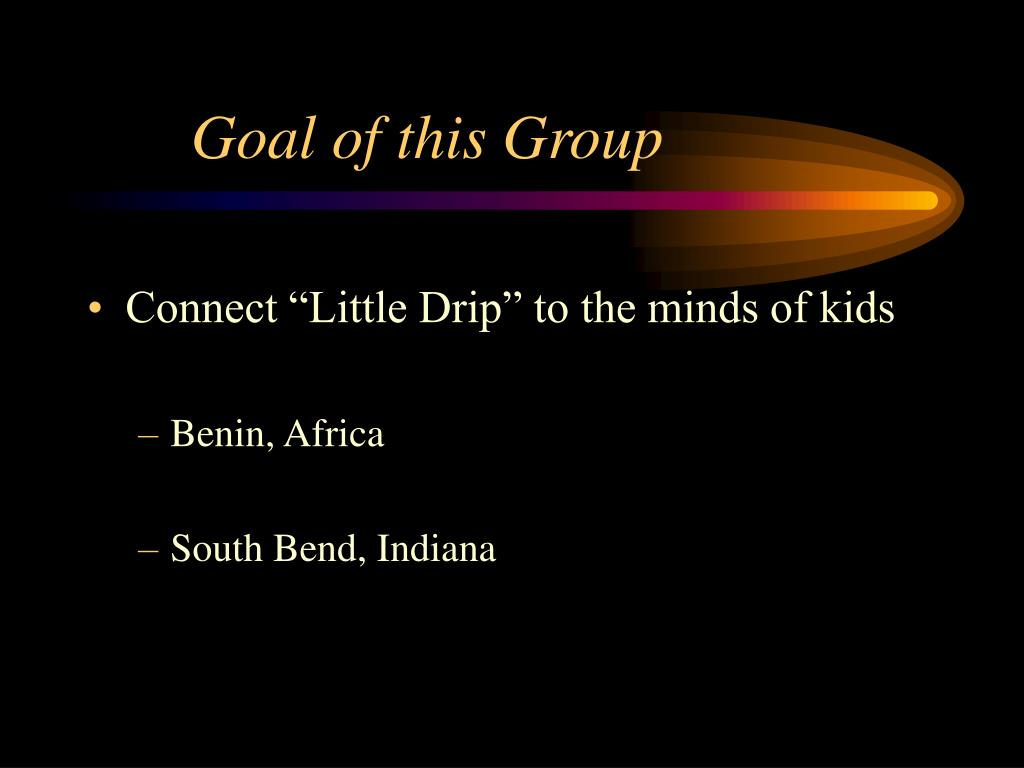 Goal of this Group