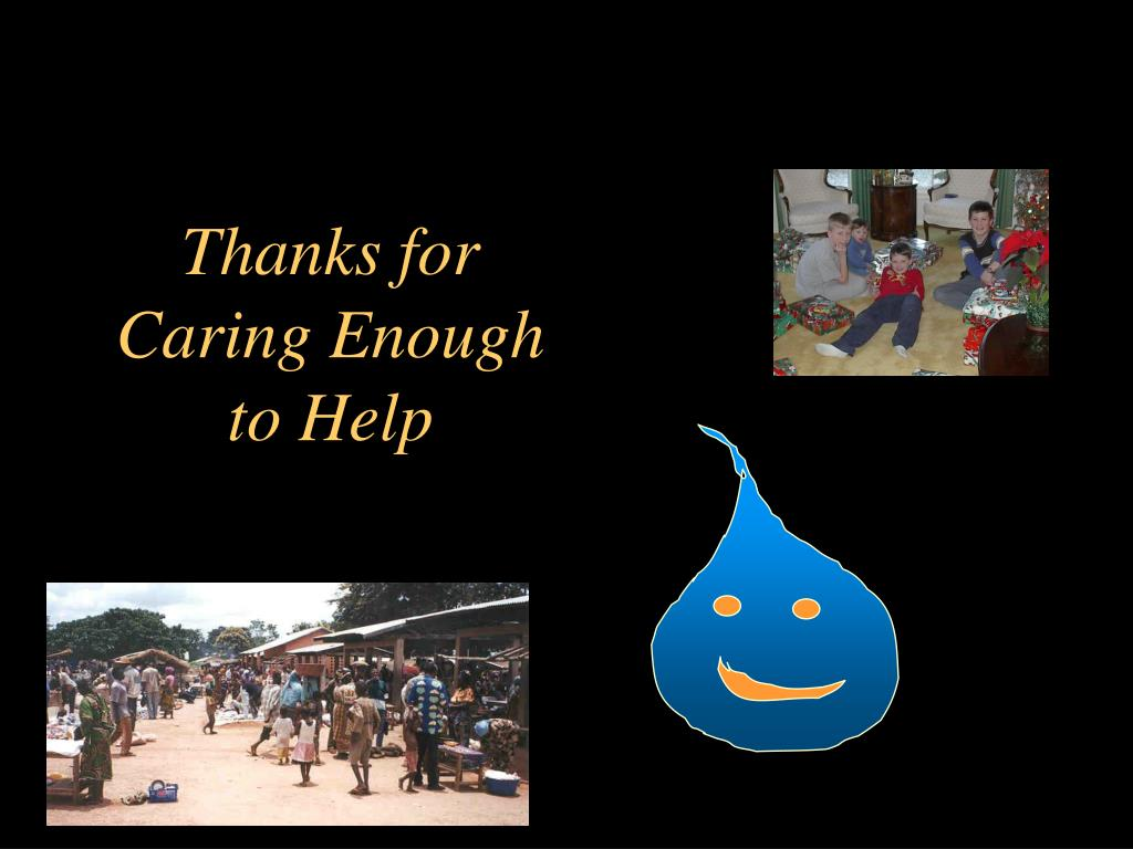 Thanks for Caring Enough to Help