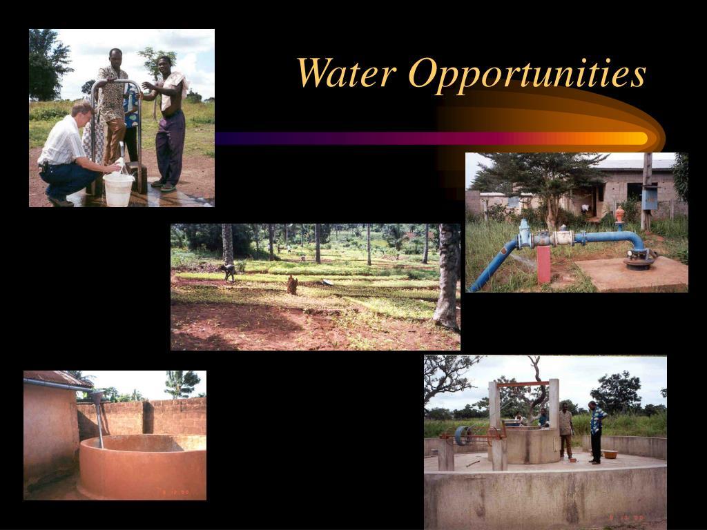 Water Opportunities