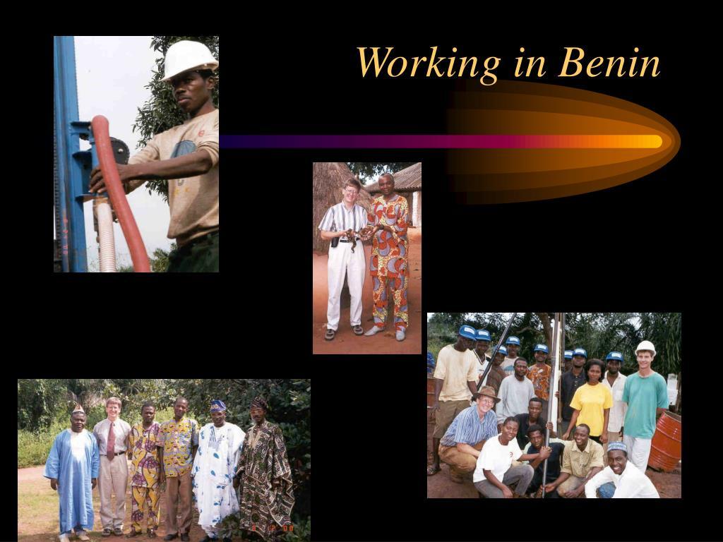 Working in Benin