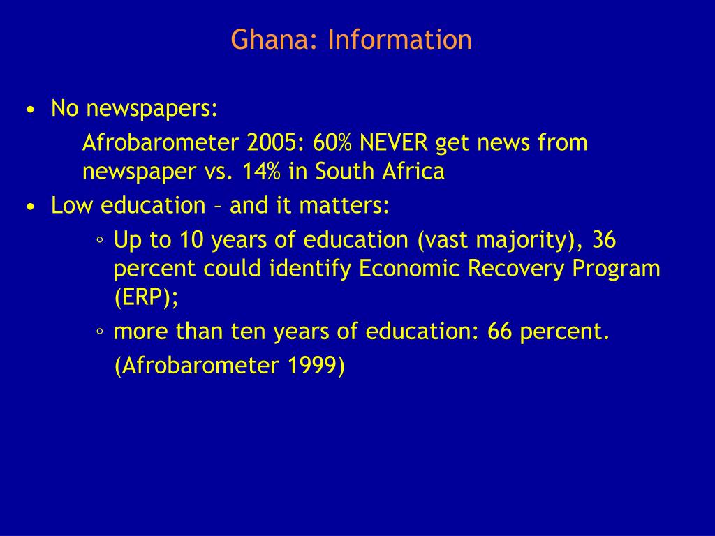 Ghana: Information
