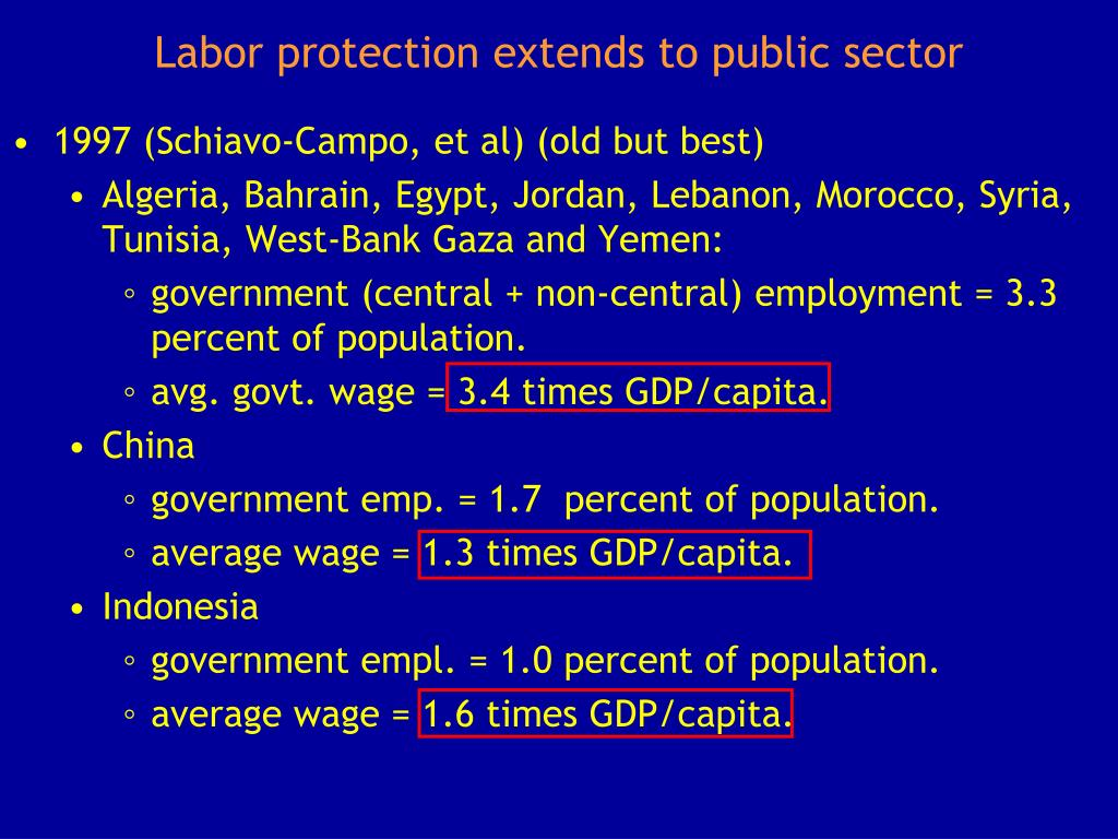 Labor protection extends to public sector