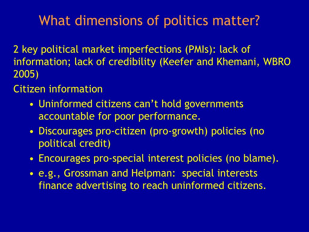 What dimensions of politics matter?