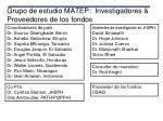 grupo de estudio matep investigadores proveedores de los fondos