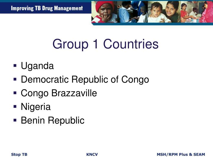 Group 1 Countries