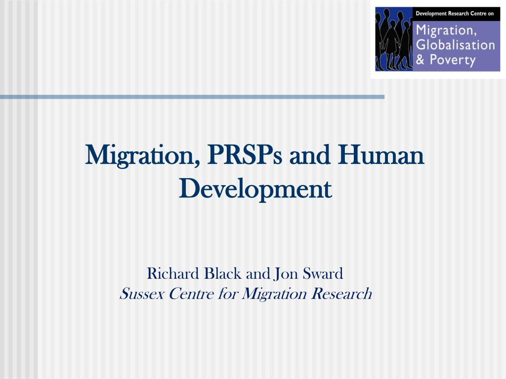 migration prsps and human development l.