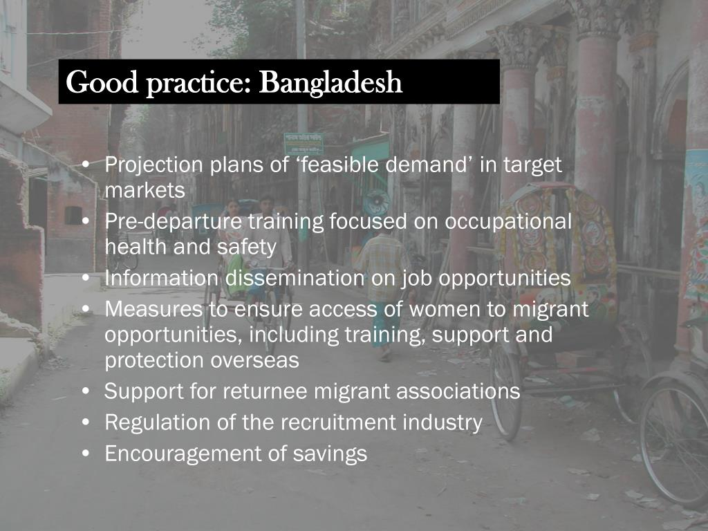 Good practice: Bangladesh