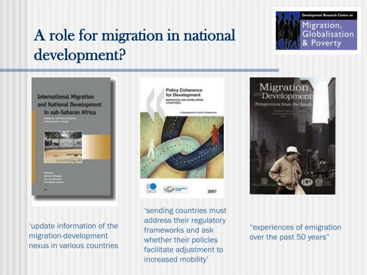 A role for migration in national development?