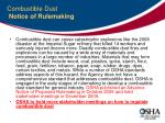 combustible dust notice of rulemaking