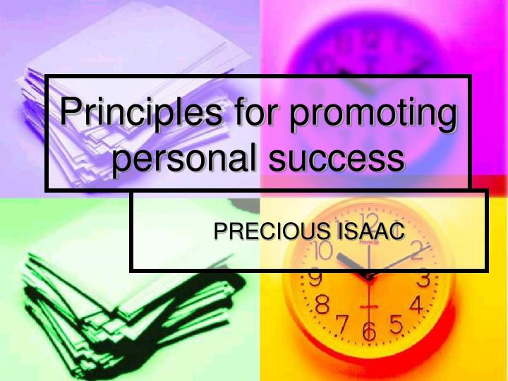 principles for promoting personal success