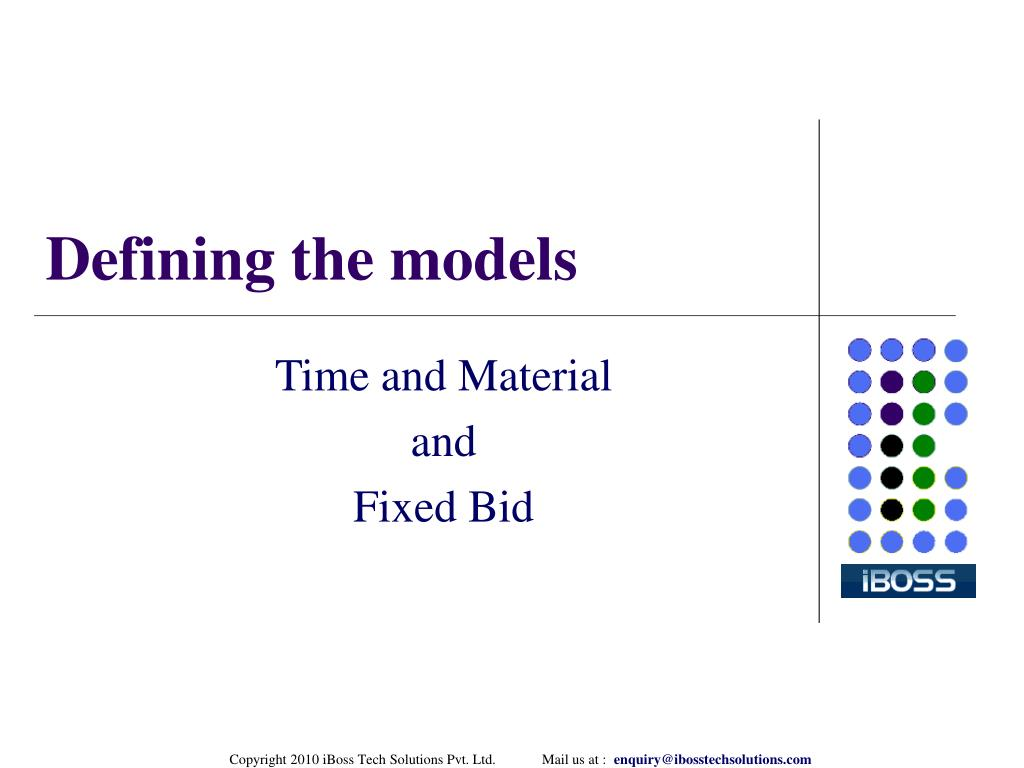 Defining the models