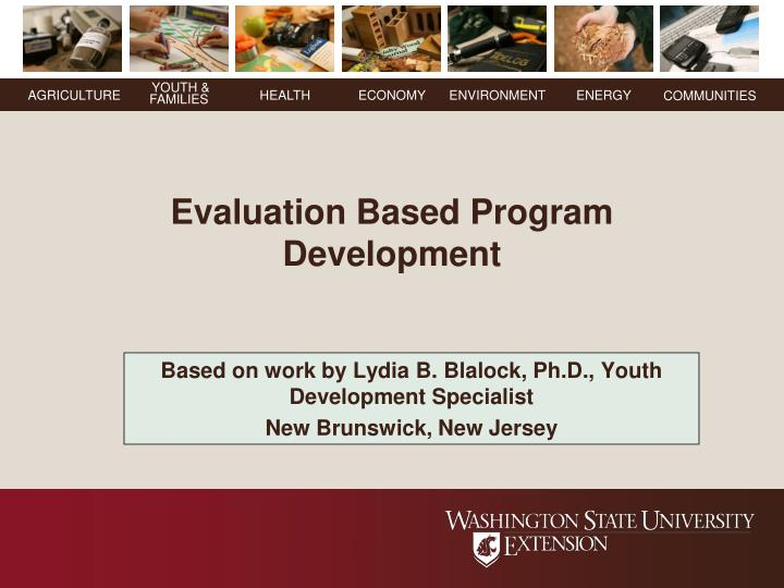 based on work by lydia b blalock ph d youth development specialist new brunswick new jersey n.