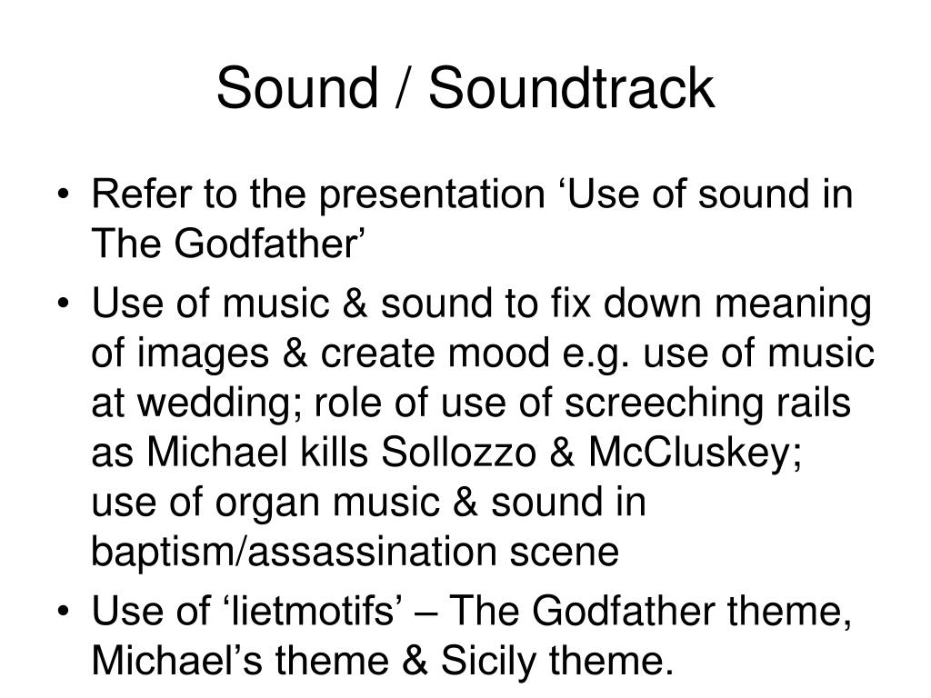 PPT - The Godfather PowerPoint Presentation - ID:1117153